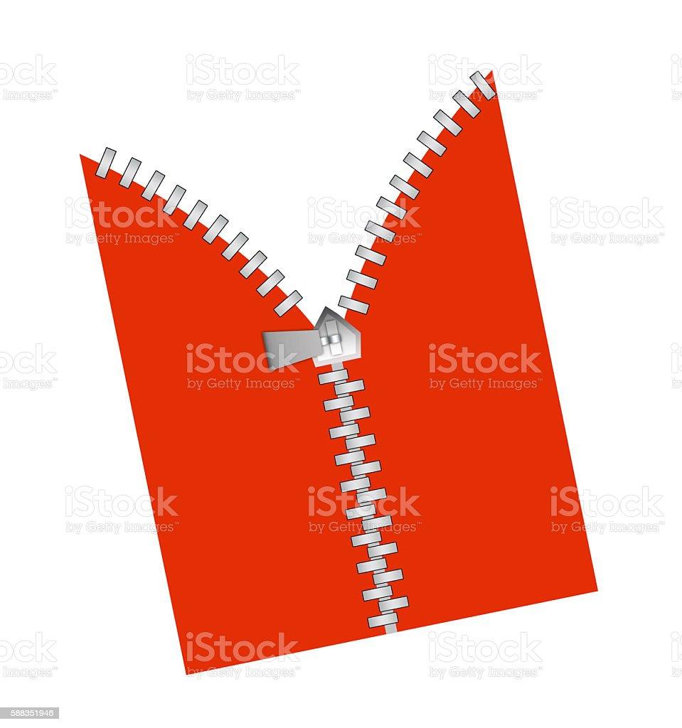 Zipper revealing stock photo