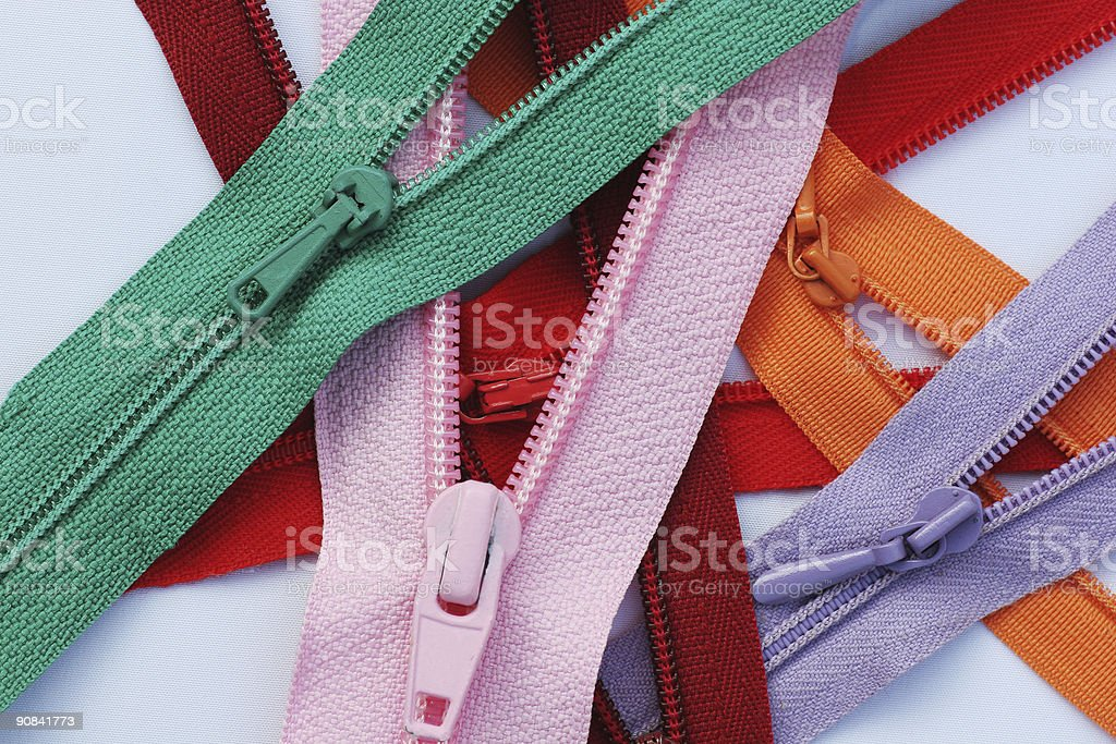 Zipper series 1 - mix stock photo