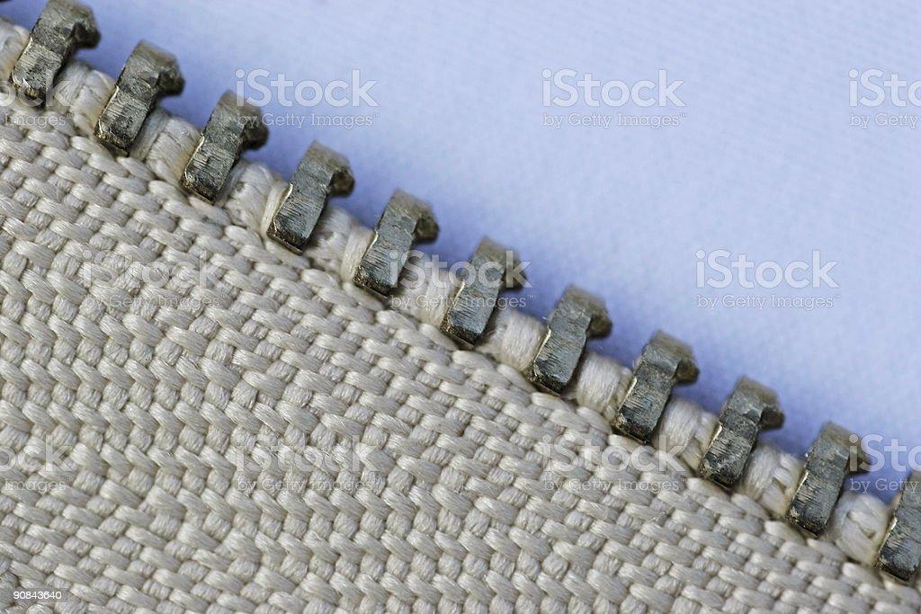 Zipper series 1 - rail detail royalty-free stock photo