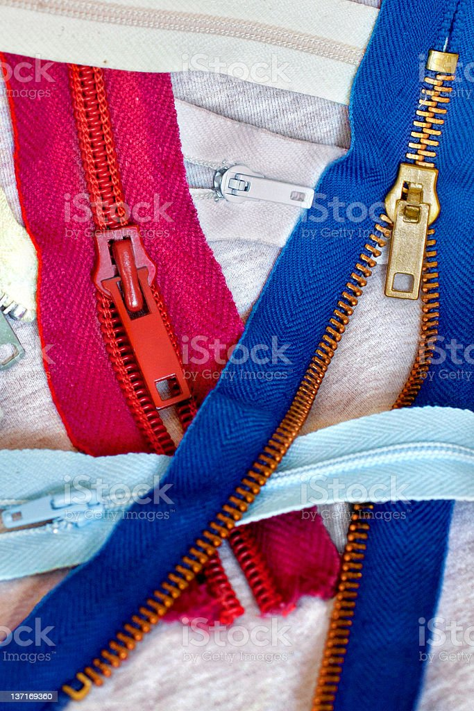 Zippers royalty-free stock photo