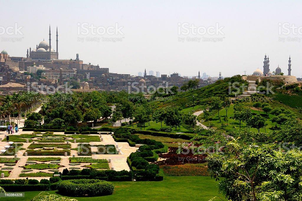Zitadelle und El-Azhar Park stock photo