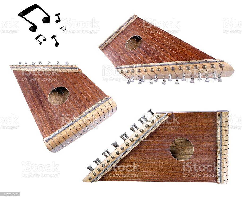 Zither compilation stock photo