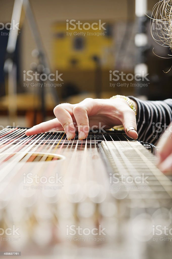 Zither stock photo