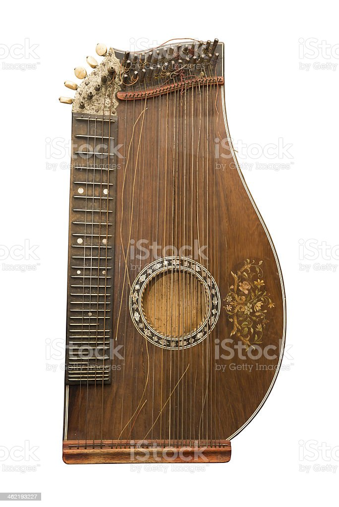 Zither-traditional a German musical instrument stock photo