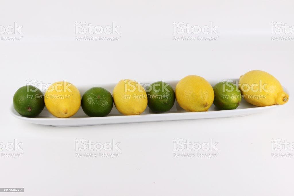Zitronen und Limetten stock photo