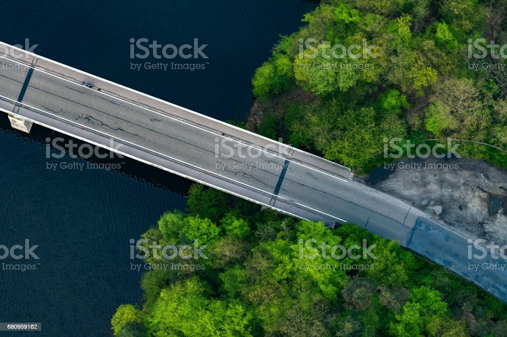 Zivohostsky bridge, Slapy stock photo