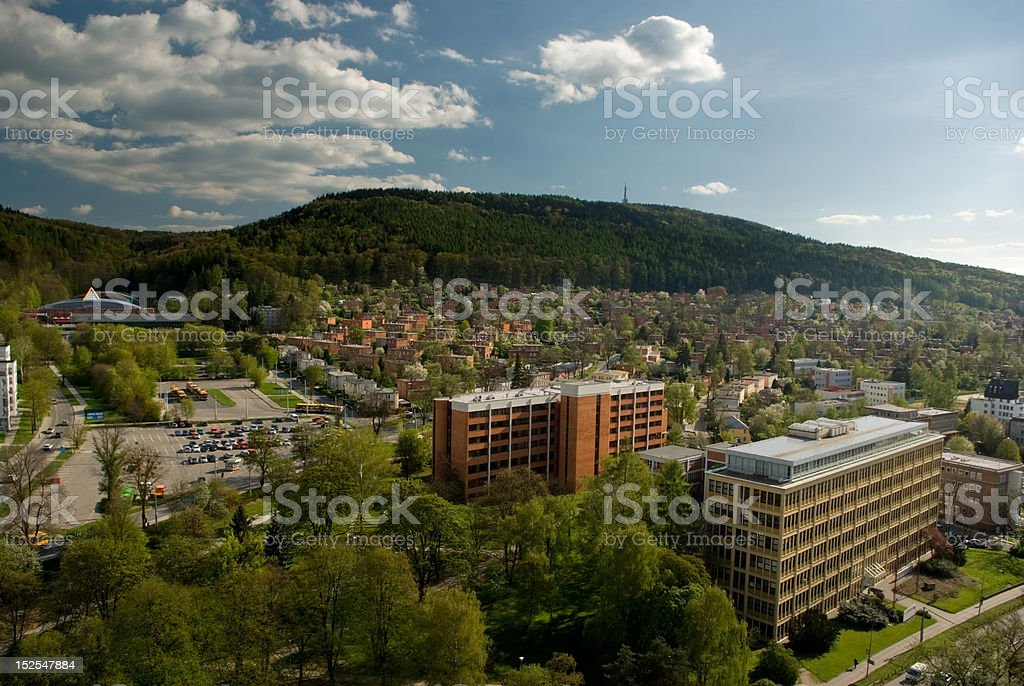 Zlin city stock photo