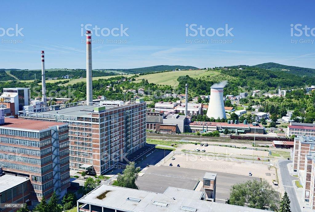 Zlin industrial district stock photo