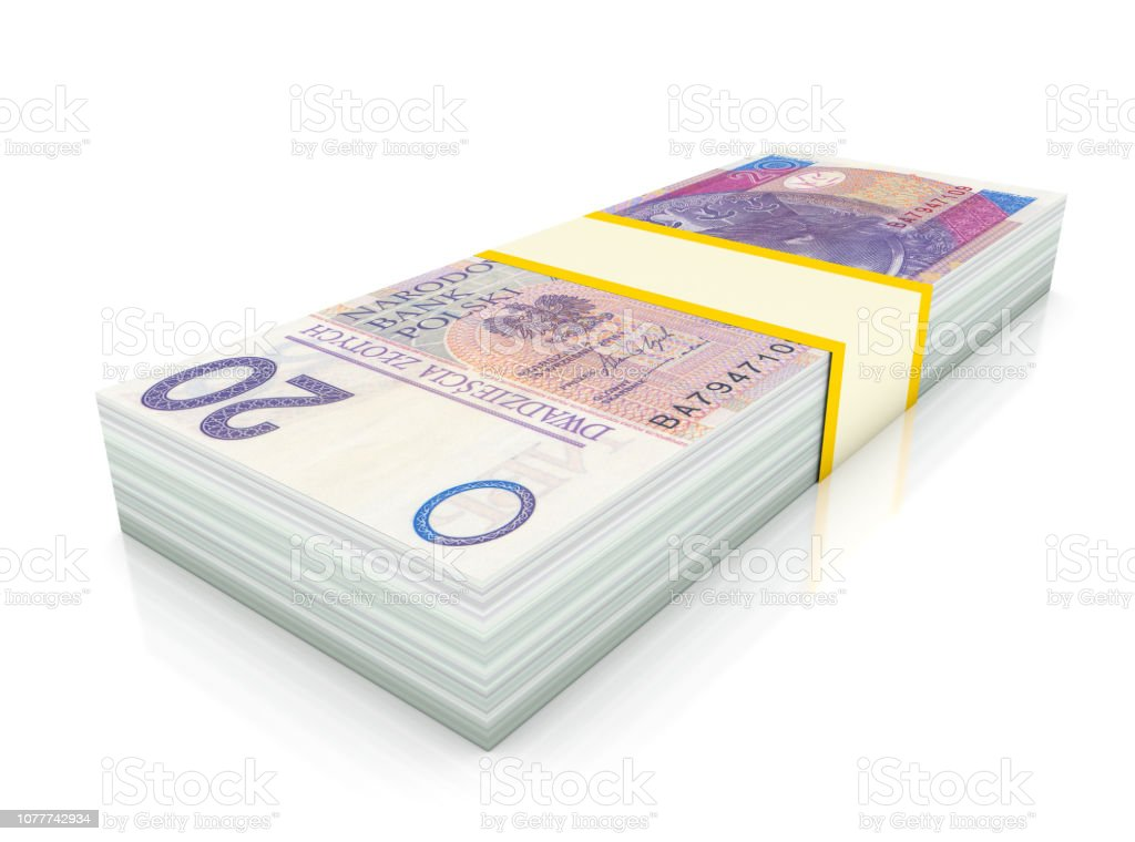 Zloty Bill stock photo