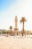 Izmir, Turkey - August 20, 2013: Konak Square and Historical Clock Tower in İzmir, Turkey