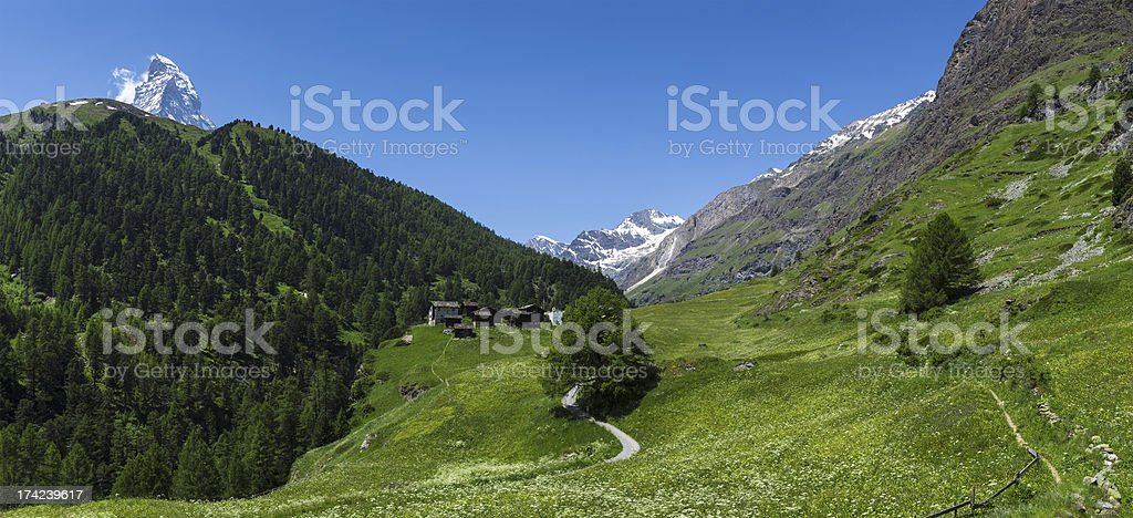 Zmutt, little village near Matterhorn royalty-free stock photo