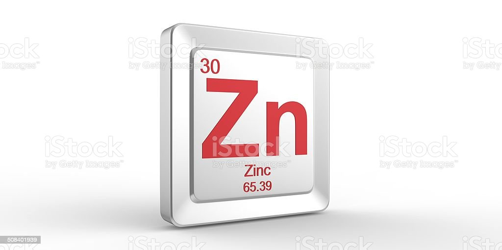 Zn Symbol 30 Material For Zinc Chemical Element Stock Photo More