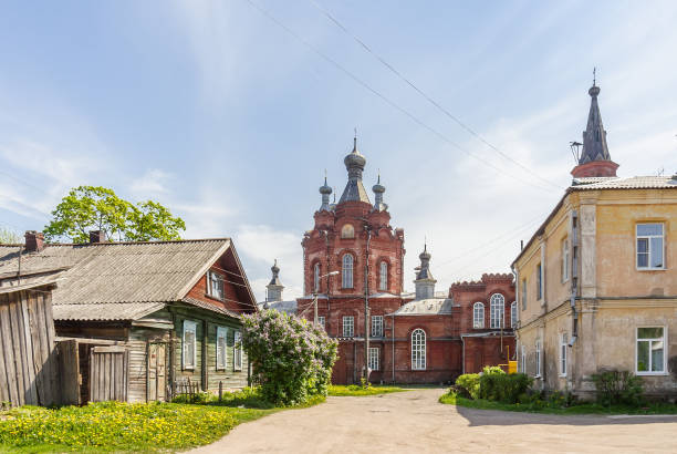 Cтоковое фото Znamensky Nunnery, The Cathedral of the Ascension in Ostashkov, Russia
