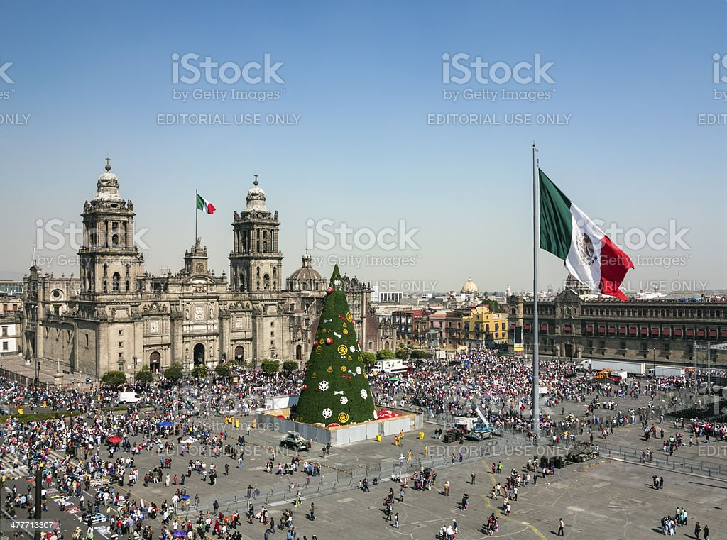 Images Of Zocalo In Mexico Christmas 2021 Zocalo Mexico City Stock Photo Download Image Now Istock