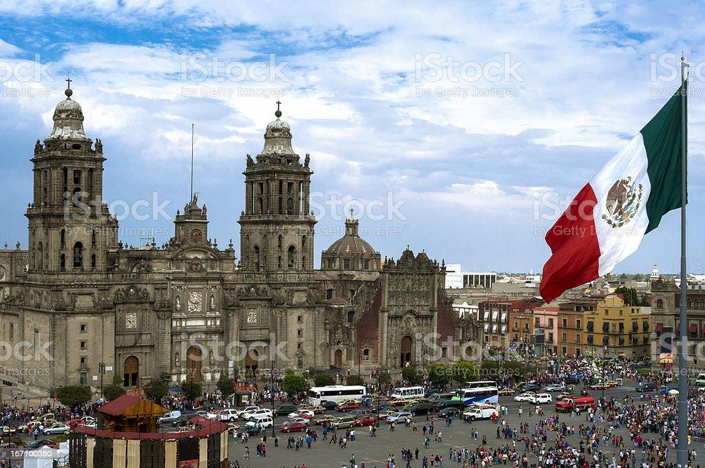 Zócalo Square en la Ciudad de México - foto de stock