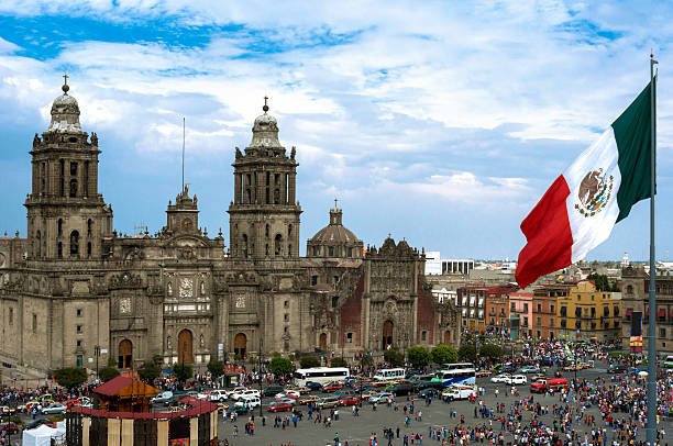 Zocalo Square in Mexico City stock photo