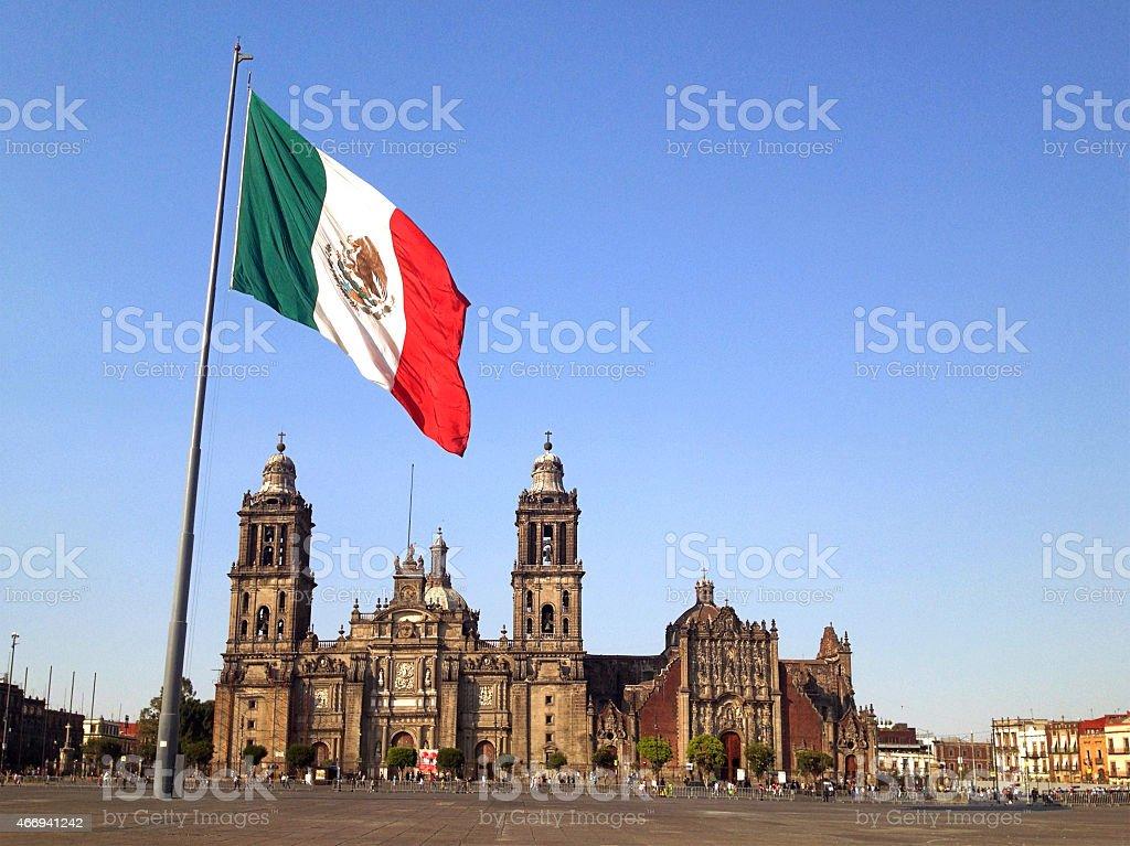 Zócalo Square, la Ciudad de México - foto de stock