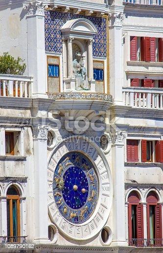 istock Zodiac clock in Venice, San Marco square, Italy 1089790162