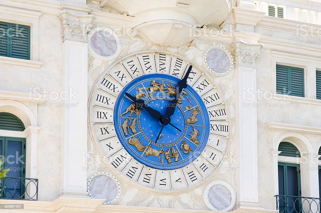 Zodiac clock stock photo
