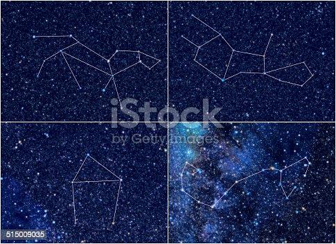 Zodiac Constellations Leo Virgo Libra Scorpio Stock Photo ...