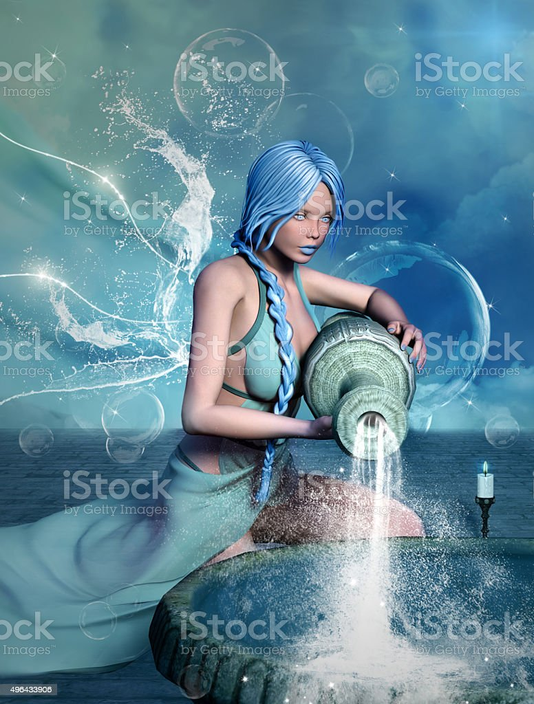 Zodiac series - Aquarius stock photo
