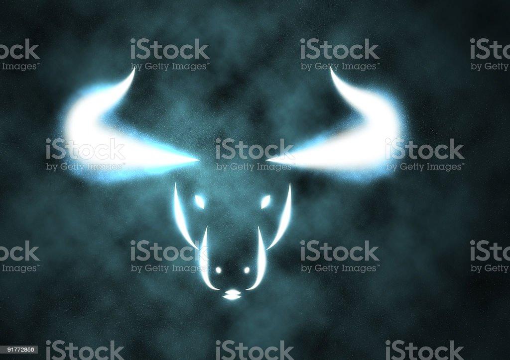 Zodiac Sign Bull stock photo
