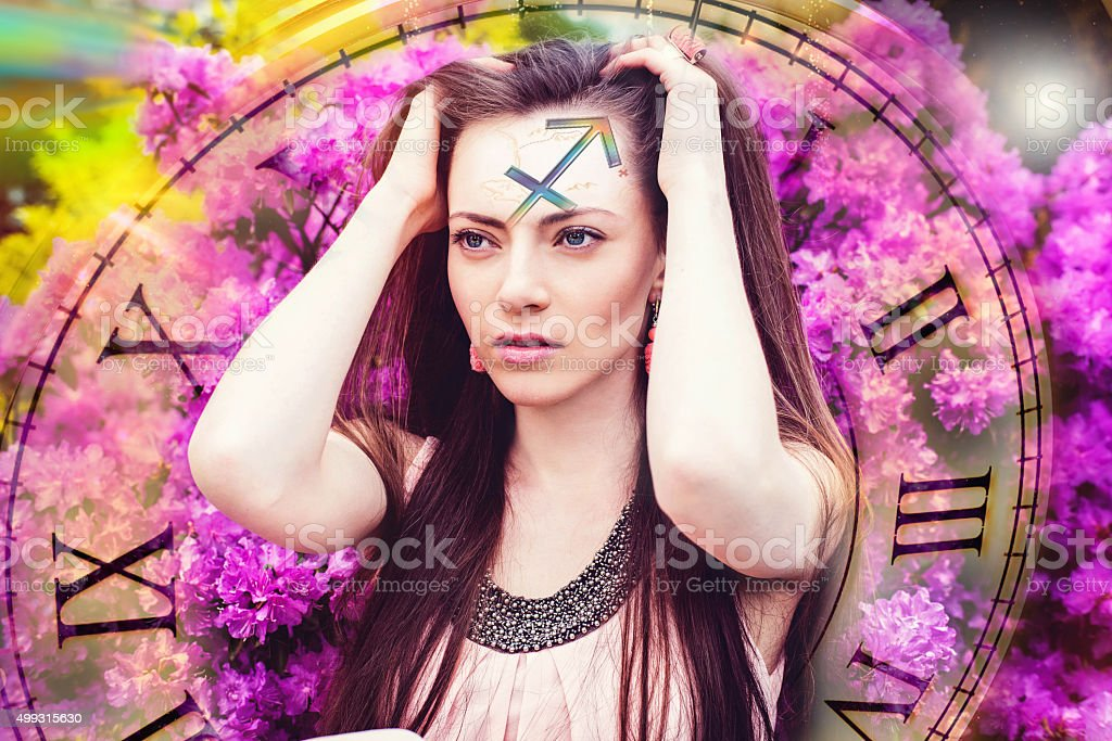 Zodiac sign Sagittarius stock photo