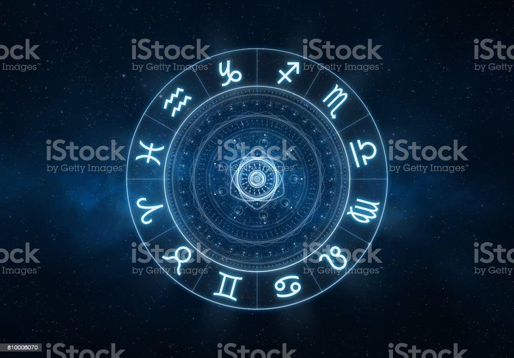 Zodiac Signs background stock photo