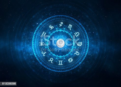 istock Zodiac Signs background 810006098