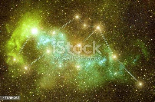 istock Zodiacal constellations. Aquarius 471284067