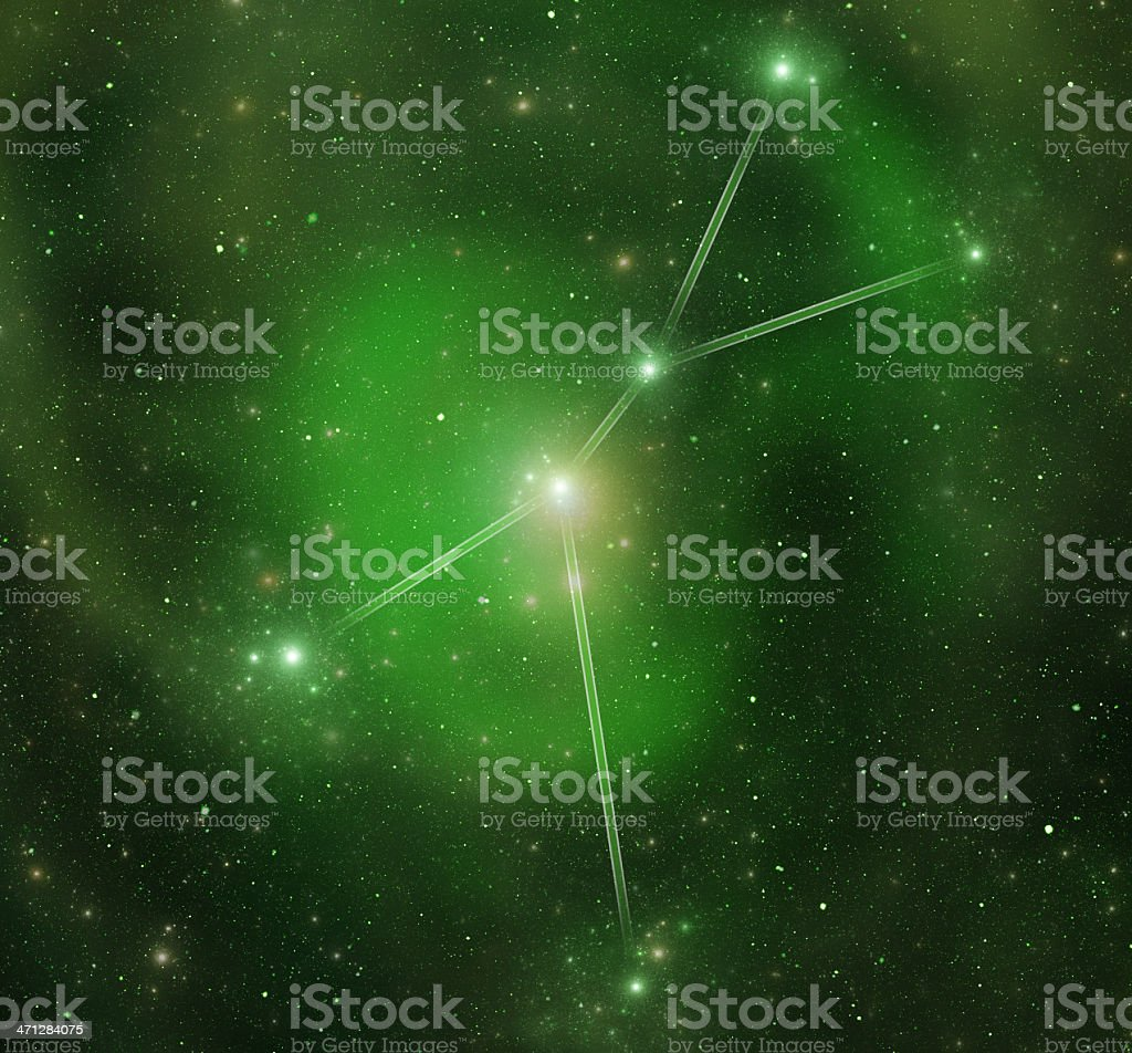Zodiacal constellations. Cancer royalty-free stock photo
