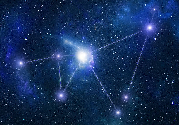 Zodiacal constellations. Capricornus stock photo
