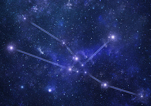 Zodiacal constellations. Taurus stock photo