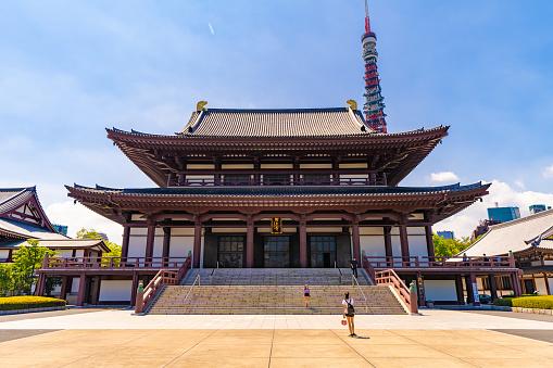 Zojoji Temple Tokyo. Minato district.