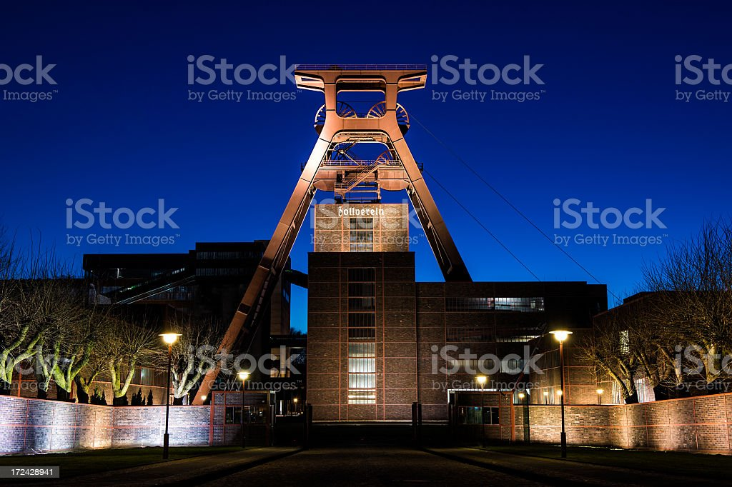 Zollverein by night stock photo