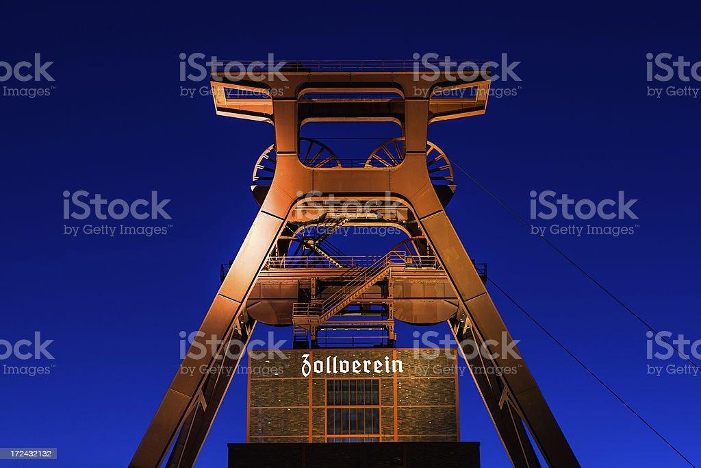 Zollverein by night stock photo