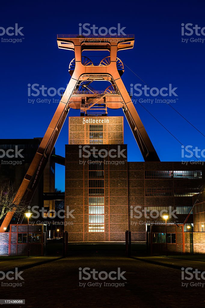 Zollverein by night - Royalty-free Ancient Stock Photo