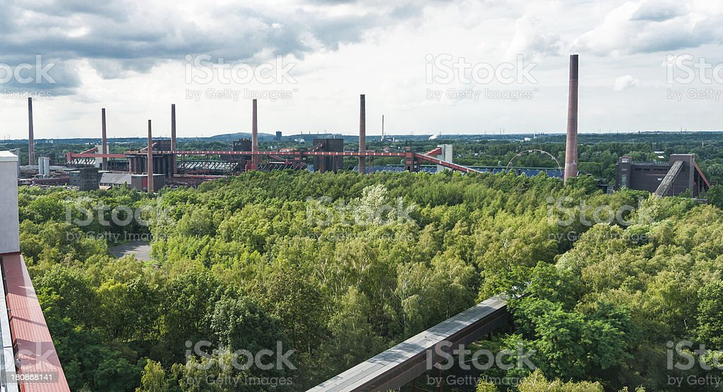 Zollverein Old Heavy Industry Panorama Cookery stock photo