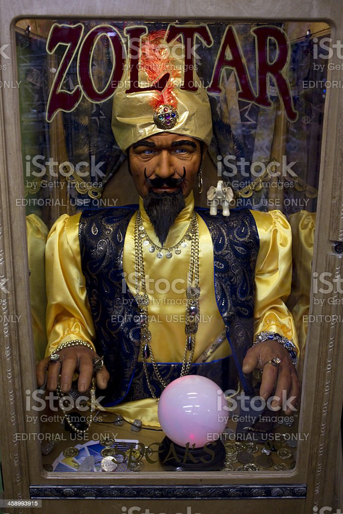 Zoltar Fortune Teller Machine stock photo
