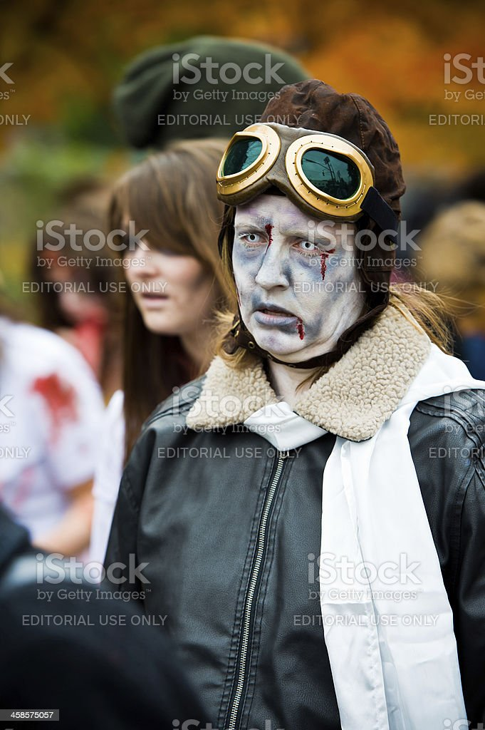 Zombie Amelia Earhart stock photo
