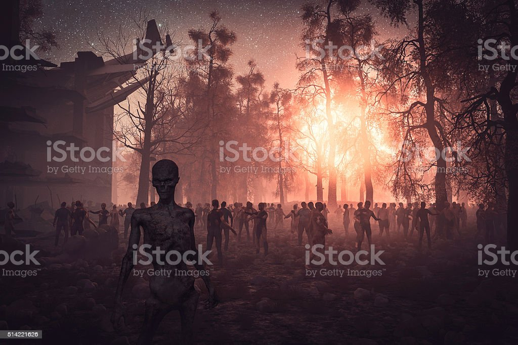 Zombie apocalipsis, Zhe final - foto de stock