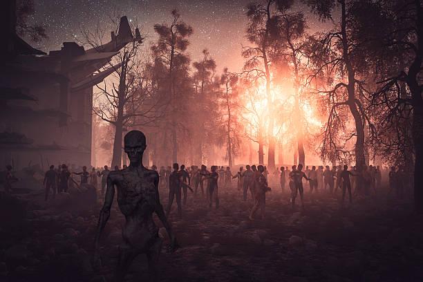 zombie reiter, zhe ende - plants of zombies stock-fotos und bilder