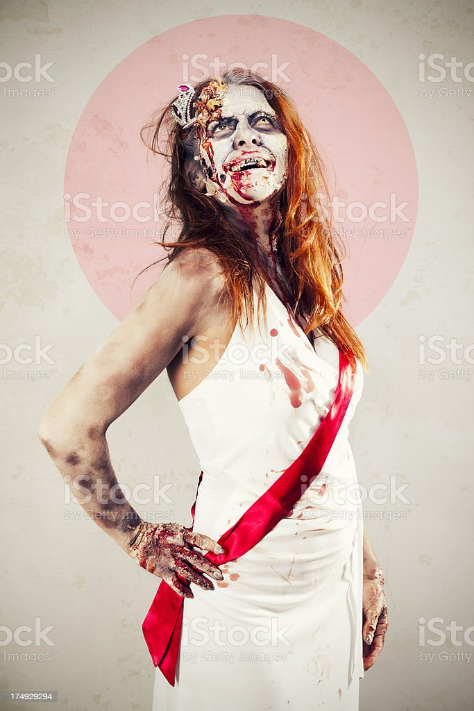 Zombie Beauty Queen royalty-free stock photo