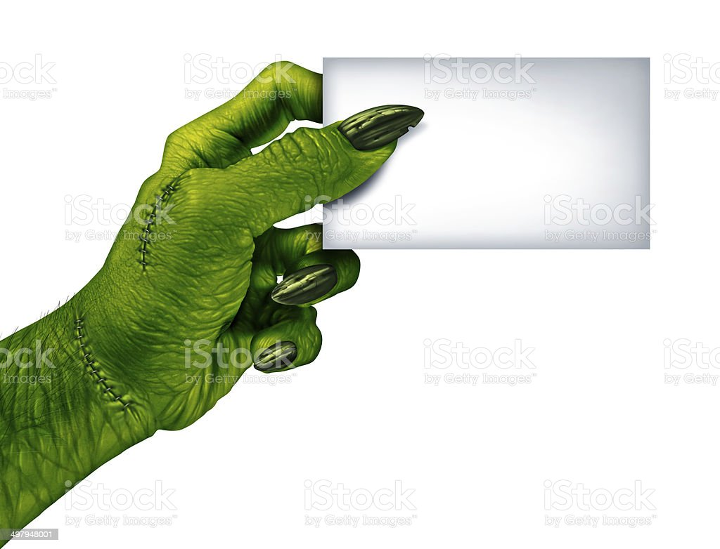 Zombie Blank Card stock photo