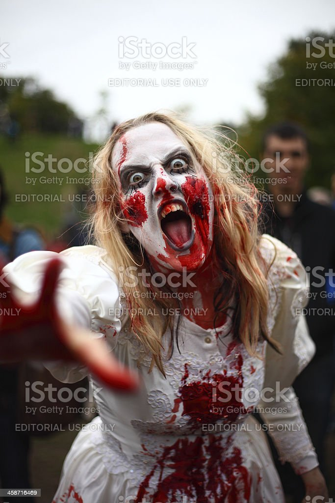 Zombie Bride royalty-free stock photo