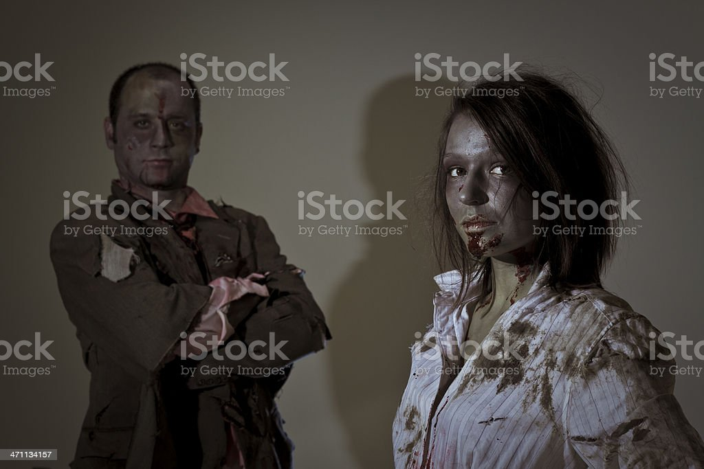 zombie business team royalty-free stock photo