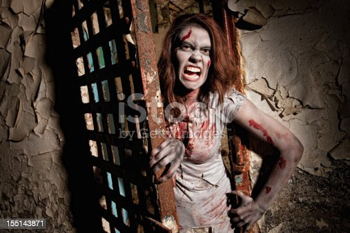 Zombie Coming Out of Jail Cell Door