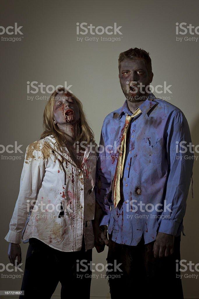 zombie couple royalty-free stock photo