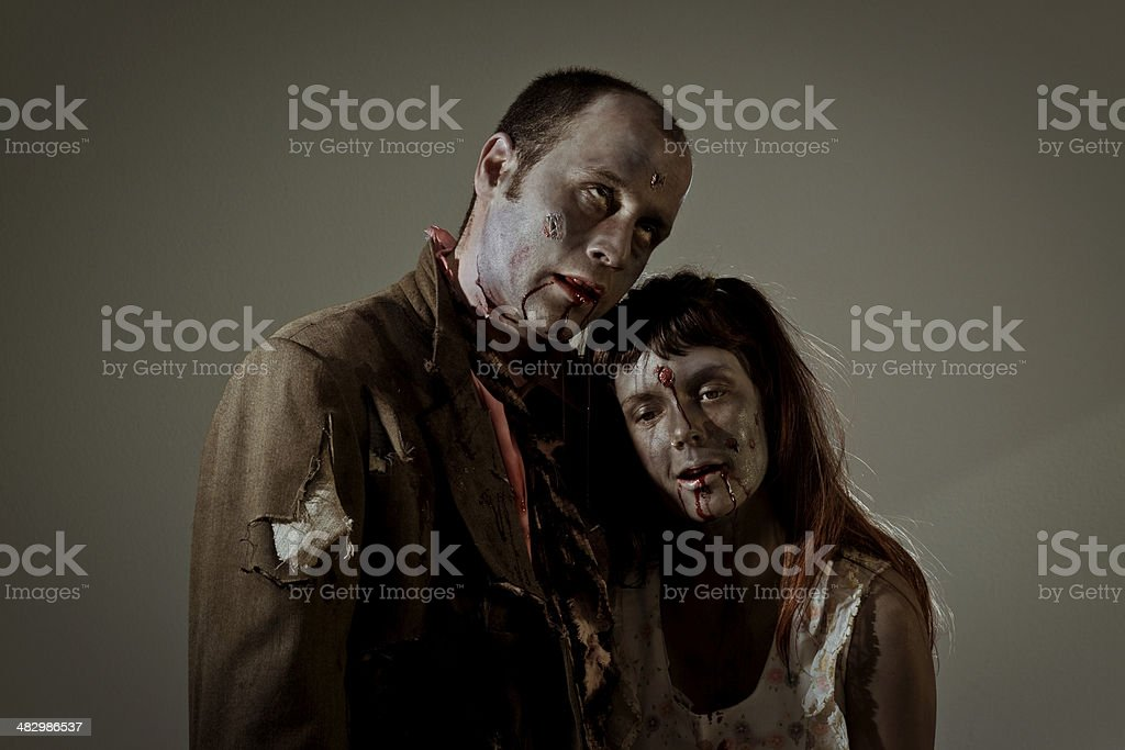zombie family royalty-free stock photo
