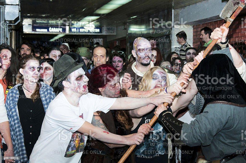 Zombie fight royalty-free stock photo